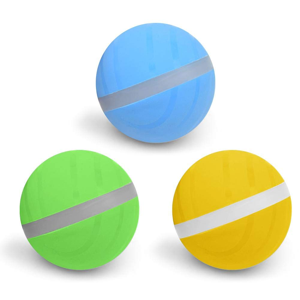 puremood Wicked Ball Pet Toy Magic Roller Ball Toy USB Electric Pet Ball LED Rolling Flash Ball Dog Cat Automatic Roller Toys Ball Pet Toy Jumping Ball Wicked Ball Fun Toy