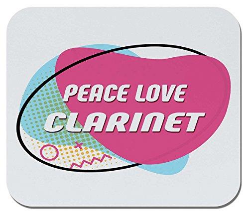 Makoroni - Peace Love, Clarinet - Non-Slip Rubber Mousepad, Gaming Office Mousepad