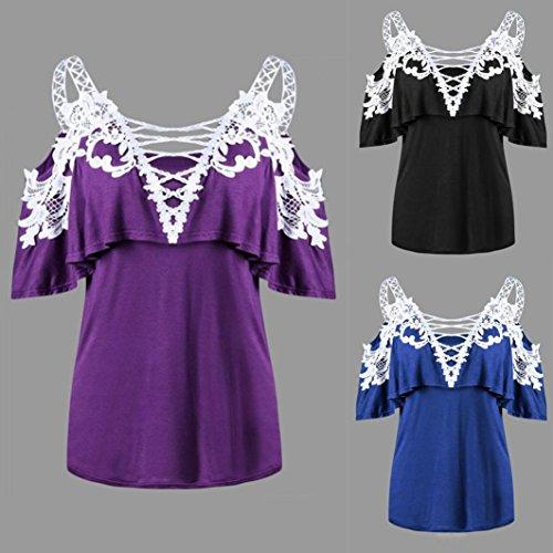 Sexy Dentelle Sexyville Noir Gilet Tops Vest Shirt V T Dbardeur Femme Mode t pissure Chemisier Col CCw4qRt