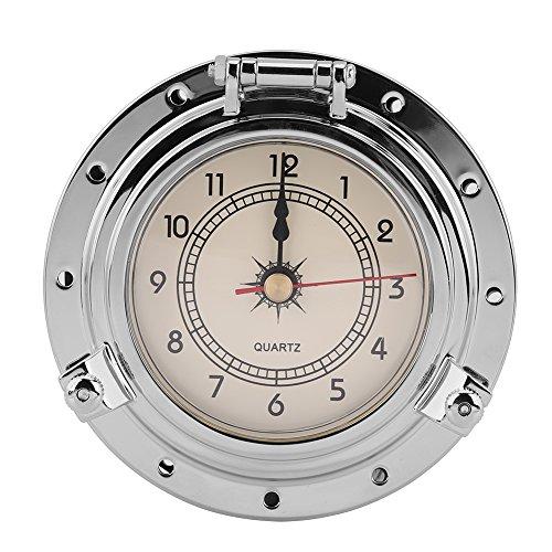 Qiilu Metro Retro de la Humedad de la Temperatura del Reloj del Barómetro de Roma para la Navegación SUV Marino del Yate de...