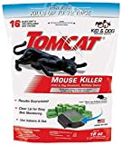 Tomcat iuo Mouse Killer Refillable Station for Indoor/Outdoor Use - Child and Dog Resistant (1 Station with 16 Baits) 4 Pack