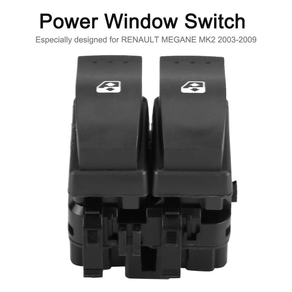 Panel de interruptor de control de espejo de ventana Power Master 8200060045 para MEGANE MK2 2003-2009 Interruptor de control de la ventana del coche Suuonee
