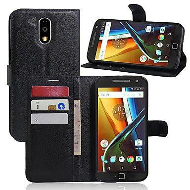 Proteja su teléfono, El sostenedor de la tarjeta de la raya del lychee protege la caja de cuero para la serie de la motorola ( Color : Rosado , Modelos Compatibles : Moto X Stylus )