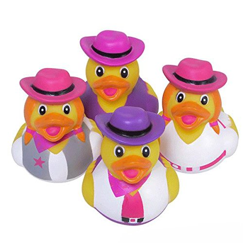 Cowgirl Rubber Ducks - 12 pc (Rubber Ducky Baby Shower Theme)