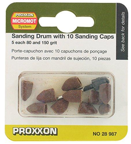 No. Sanding Drum with 10 Sanding Caps - PROXXON 28987