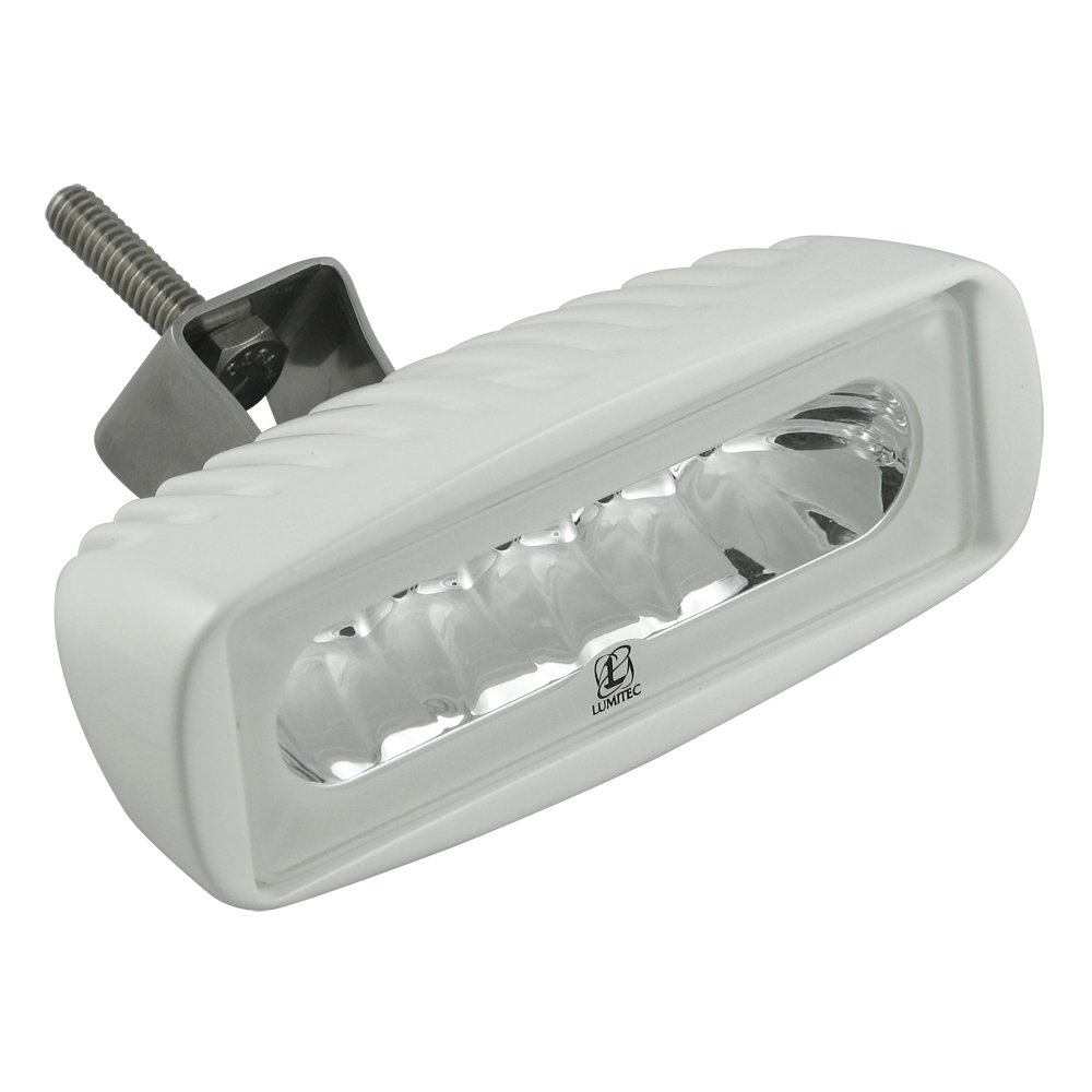 Lumitec Caprera2 101102, LED Flood Light, Bracket Mount, White Housing, White Dimming and Blue Dimming by Lumitec