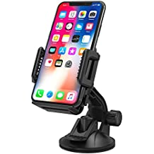 Phone Holder for Car, TaoTronics Car Phone Mount, Car Holder for Windshield/ Dashboard, Universal Car Mobile Phone Cradle for iOS / Android Smartphone and More