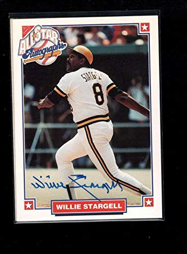 (1993 Nabisco Willie Stargell Authentic On Card Autograph Signature Ax6312 - Baseball Slabbed Autographed Cards)