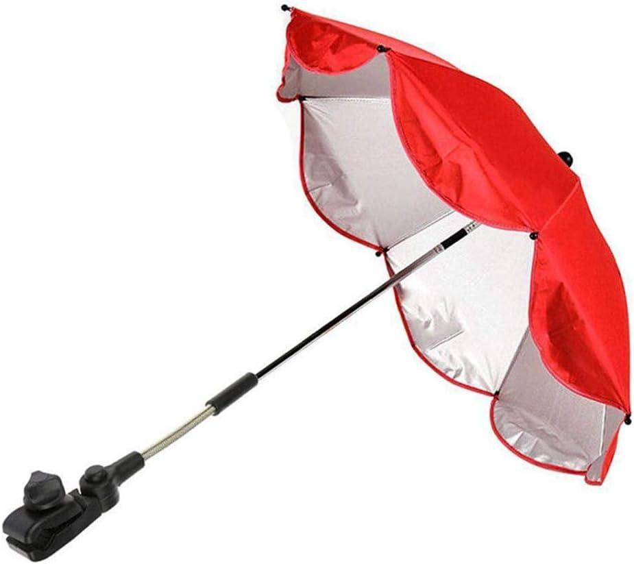 Navigatee Parapluie b/éb/é poussette Portable r/églable poussette b/éb/é poussette Landau chaise parapluie pour poussette soleil pluie protection UV rayons parapluie