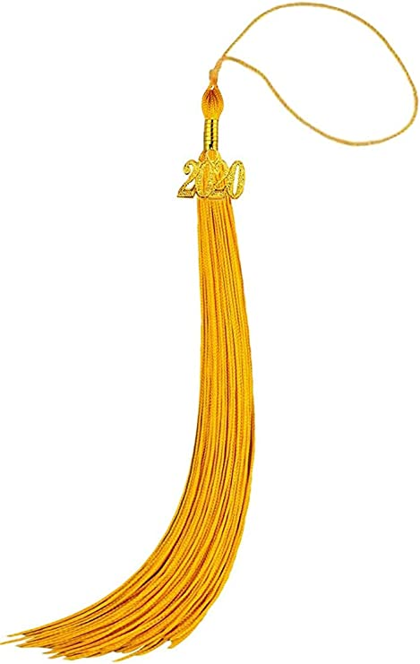2020 Update HEPNA Uniforms Graduation Cap Tassel for Graduation Photo,Double Color Maroon//Gold