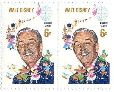 1968 Walt Disney US Postage Stamp 6 Cents MNH (2 Stamp Pair) Scott #1355