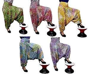 25Pcs Amazing India Rayon Ladies Plain Printed Design Baggy Harem Aladdin Smoked Pants Wholsale Lot