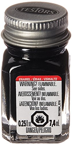 Testors Enamel Paint Open Stock .25oz-Black -
