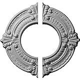 Ekena Millwork CM09BN2 9''OD x 4 1/8''ID x 5/8''P Benson Ceiling Medallion, Fits Canopies up to 4-1/8'', 2 Piece