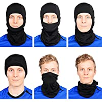 Nordic Balaclava 2-Pack Face Mask Motorcycle Helmets Liner Ski Gear Neck Gaiter Ski Mask Accessories by The Friendly Swede (extra warm) by The Friendly Swede