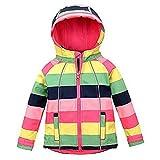 #10: M2C Girls Hooded Fleece Lined Windproof Sweater Softshell Jacket