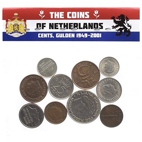 - Hobby of Kings Dutch Netherlands Coins Cents Gulden Period 1949-2001 Pre-Euro Currency (10)