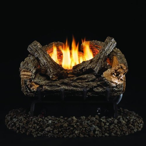 (Peterson Real Fyre 16-inch Valley Oak Log Set With Vent-free Propane Ansi Certified 20,000 Btu G8 Burner - Manual Safety Pilot)