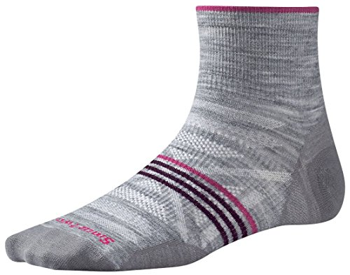 Socks Mini Outdoor Light (Smartwool Women's PhD Outdoor Ultra Light Mini Socks (Light Gray Heather) Medium)