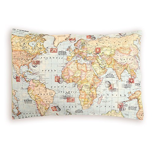 Cojín Mapa. Mapamundi, Mundo Entero. Funda Cojín suelo o ...