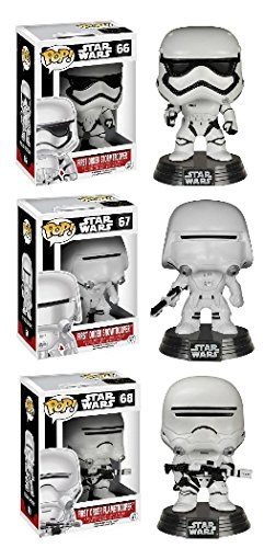 Funko POP Star Wars Episode 7: First Order Stormtrooper, Snowtrooper, and Flametrooper 3 Piece BUNDLE