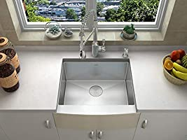 24 Inch Apron Sink.Zuhne Prato 24 Inch Single Bowl Farm House 16g Stainless Steel
