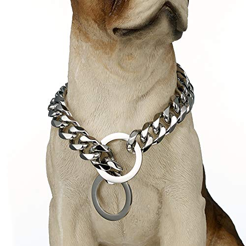 Stainless Steel Dog Collar, 15mm 20