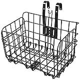 HOMEE Folding Rear Bike Basket Wire Mesh Fold-Up Detchable Front Bag Rear Hanging Bike Basket Bicycle Bag Cargo Rack for…