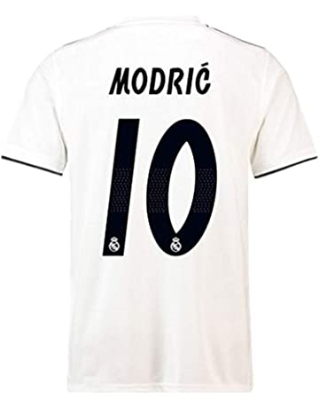 7468295627b Real Madrid Luka Modric 10 Soccer Jersey Shirt Mens 2018 2019 Season Home  White -