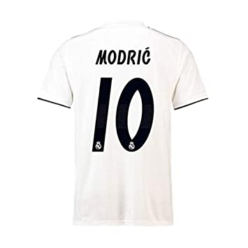 Real Madrid Luka Modric 10 Soccer Jersey Shirt Mens 2018 2019 Season Home  White - Soccer Jersey Size S  Amazon.co.uk  Sports   Outdoors ae9b5c25b