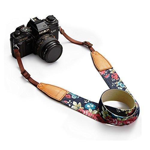 BESTTRENDY Kameragurt Kamerariemen Schultergurt Trageriemen Kamera Gurt für Canon Nikon DSLR Farbe Blau