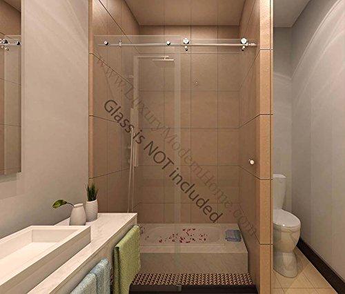 ssh COLOGNE - Modern Frameless Sliding Shower Bathtub Door HARDWARE ONLY Modern Brushed Satin Stainless Steel 304 85%OFF