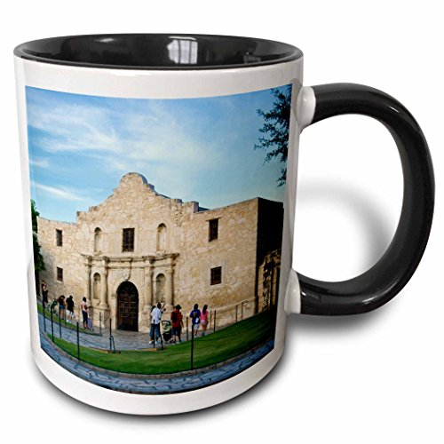 3dRose 3dRose The Alamo, San Antonio, Texas, USA - US44 BJN0000 - Brian Jannsen - Two Tone Black Mug, 11oz (mug_146609_4), , - Outlets San In Texas Antonio