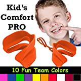 Kid's Comfort PRO Youth Double Sports Mouth Guard Wear with or Without Braces (Orange)