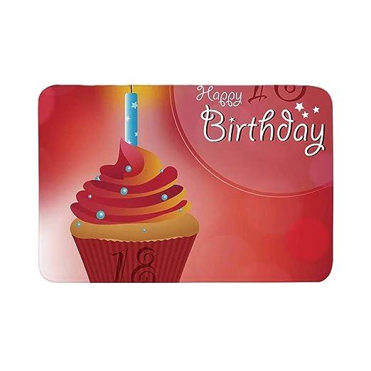 C COABALLA - Felpudo para decoración de 18 cumpleaños ...