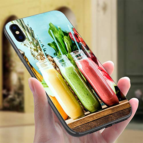 - Creative iPhone Case for iPhone 7/8P Freshly Blended Fruit Smoothies and Tastes Resistance to Falling, Non-Slip,Soft,Convenient Protective Case