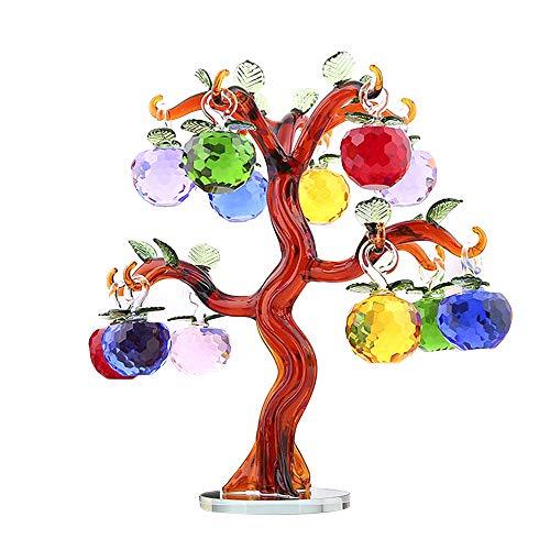 Asdomo Multi Color Natural Crystal Money Tree, Feng Shui Gemstone Healing Crystal Money Tree Bonsai Fortune for Good Luck, Wealth & Prosperity Chakra Home Office Decor Spiritual Gift