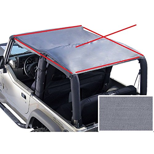 Rock Crusher 892911 Acoustic Island Topper Denim Gray Fits 92-95 Jeep Wrangler ()