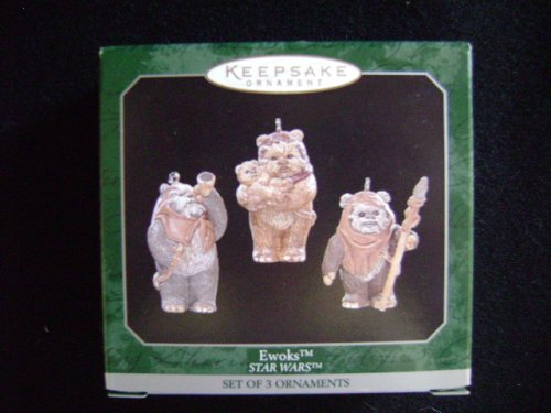 (Ewoks Set of 3 Mini Star Wars Hallmark Christmas Ornament)