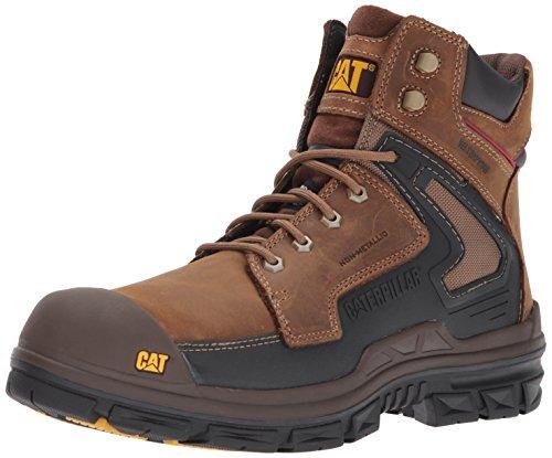 (Caterpillar Men's Chassis Waterproof Nano Toe Industrial and Construction Shoe, Dark Beige, 12 M US)