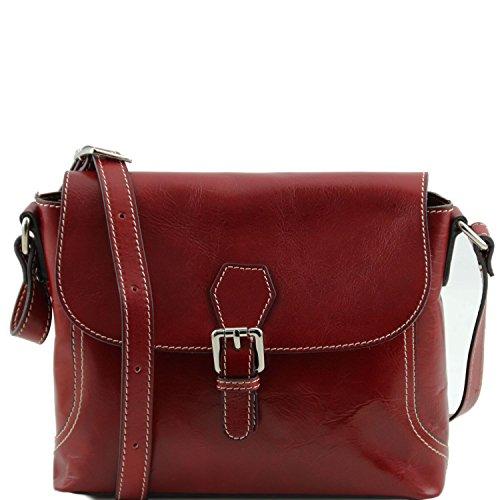 Tuscany Leather - Jody - Bolso con badolera y tapa Rojo - TL141278/4 Rojo