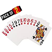 GULF MASTER Paper Playing Cards, 9x6 cm (White) - Pack of 2