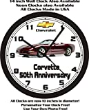 2003 CHEVROLET CORVETTE 50th ANNIVERSARY WALL CLOCK-FREE USA SHIP!-Choose 1 of 2