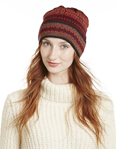 Invisible World 100% Alpaca Hand Knit Winter Beanie Hat Montreal Red - Montreal Shop Hat