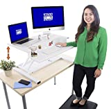 Stand Steady FlexPro Air 32 inch – Two Level Standing Desk – Instantly Convert Any Desk to a Stand Up Desk –Perfect for home, school, or corporate office. No Assembly Required! (White 32″) Review
