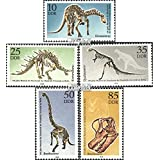 DDR 3324-3328 (Complete.Issue) 1990 Dinosaur (Stamps for Collectors) Amphibians / Reptiles / Dinosaurs