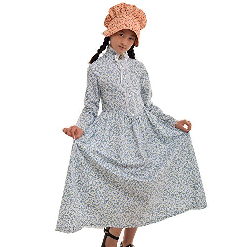 GRACEART Reenactment Pioneer Prairie Colonial Girl Costume