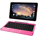 2018 RCA Galileo Pro 2-in-1 11.5'' Touchscreen High Performance Tablet PC, Intel Atom Quad-Core Processor, 32GB SSD, 1GB RAM, WiFi, Bluetooth, Webcam, Keyboard, Android 6.0, Pink