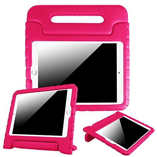 "Fintie iPad 9.7 Inch 2017 / iPad Air 2 / iPad Air Case - Kids Friendly Light Weight Shock Proof Convertible Handle Stand Cover for Apple iPad 9.7"" 2017 Model, iPad Air 2, iPad Air, Magenta"