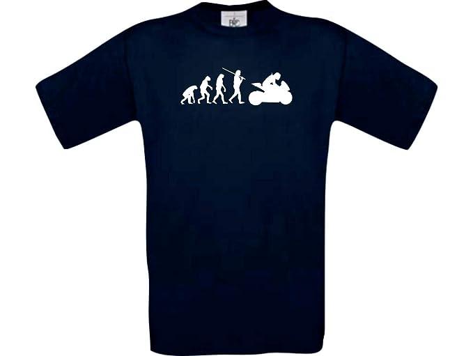 Shirtinstyle Evolución de la Camiseta Motociclismo Deporte Fun Edición Especial Tallas S-XXXL: Amazon.es: Ropa y accesorios
